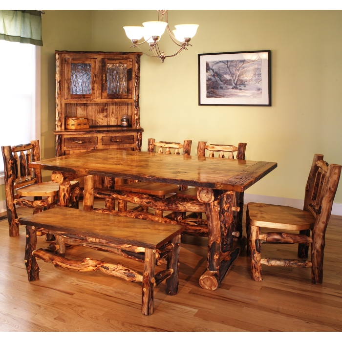 Log home furniture