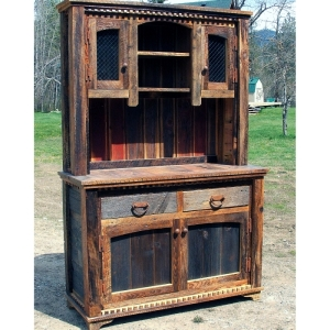 Country Roads Barnwood Buffet & Hutch
